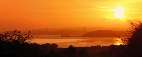 Sunset by the Bridges