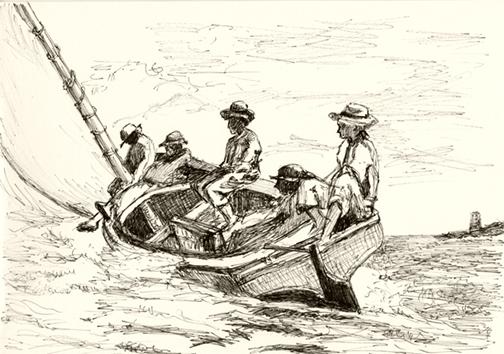 Breezing up. Winslow Homer