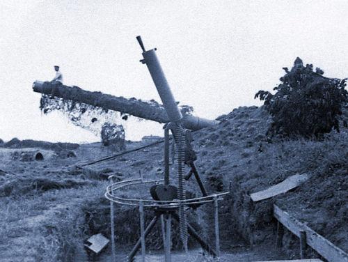 Sitting on the Mirus gun barrel.
