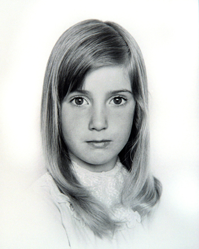 Fiona as a young child