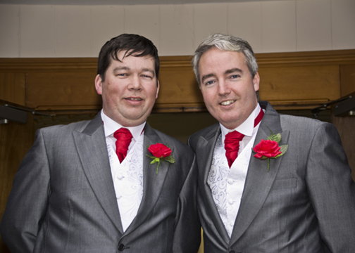 The best man and Groom.