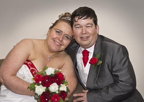 The bridal couple as a Portrait.