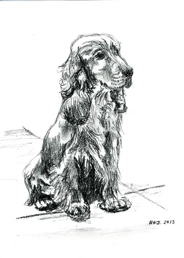 'Jacob', a Charcoal drawing.