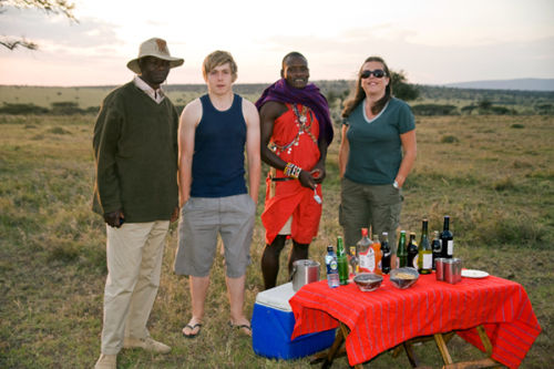 My Wife and son with our Masai guides