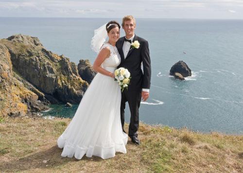 Orla & Andy on their favourite Headland.