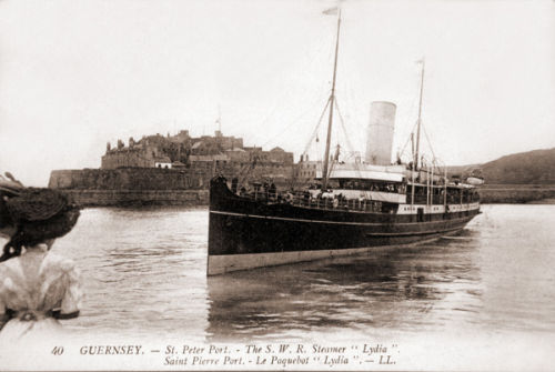 SS Lydia enters St Peter Port.