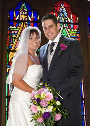 Sarah & Ben in church