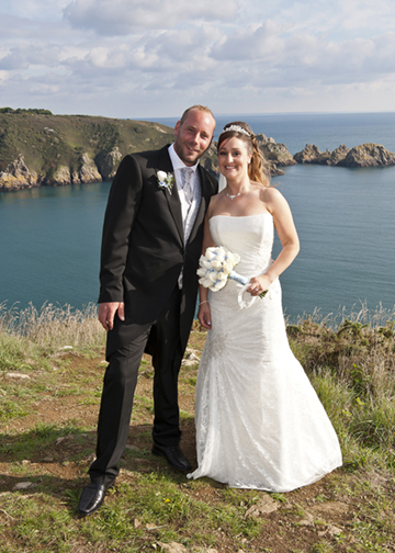 Tracey&James on the headland.