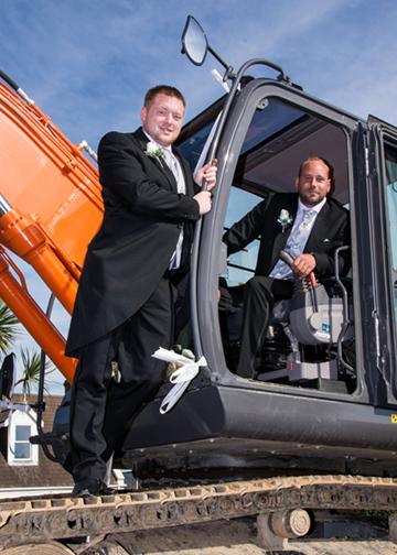 James & Daniel Arrive in unusual transport