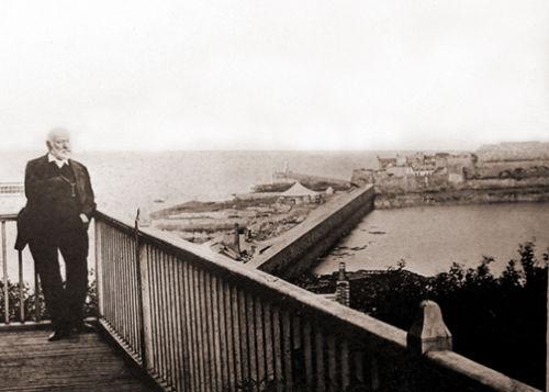 Victor Hugo on his Balcony.