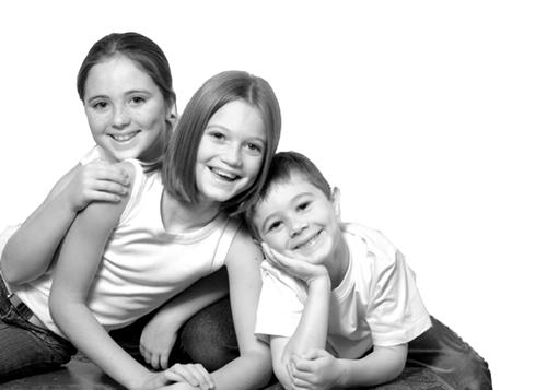 Three children.