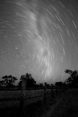 MH0080 Star trails over Red Rock Cattle Yards RS