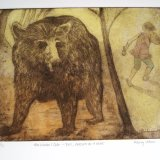 Exit pursued by a Bear (from The Winter's Tale)