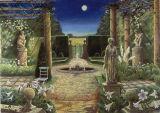 Moonlit Garden- Oil
