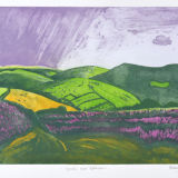 Squall over Exmoor Etching