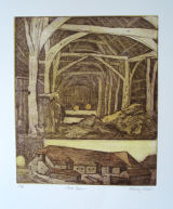 The Barn etching