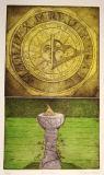 Sundial- etching