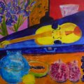Yellow violin ; Sold