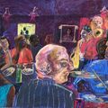 The JazzCafe.  125 x 89 cms