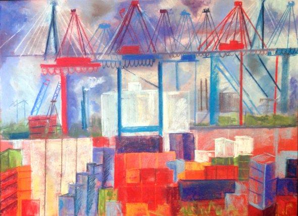 Then Port in Hamburg