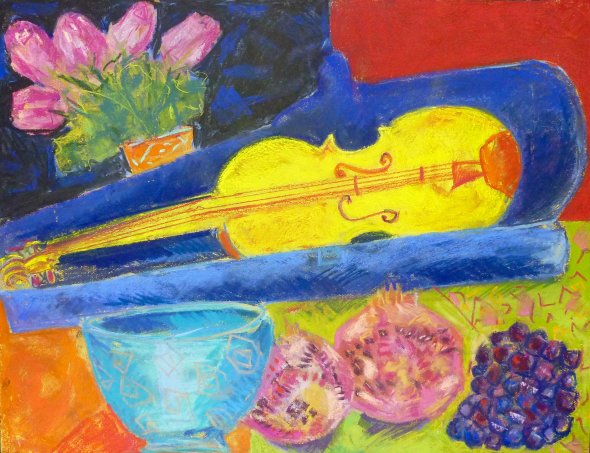 Yellow violin