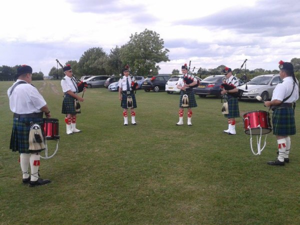 Bagpipers' practice