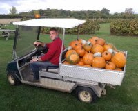 Paddy Ivens, farmer and resident pumpkin man