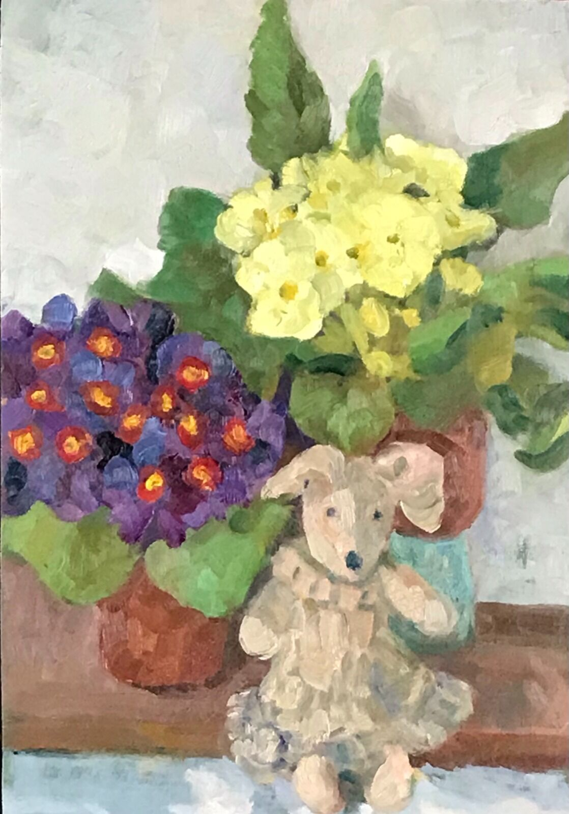 Primroses and Bunny