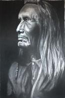 Naz Perce Indian warrior. SOLD