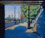 Embankment . Pastel.