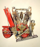 1915 Indian Motorcycle Engine