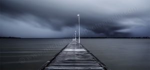 Approaching Storm at Como Jetty Landscape Photography Print