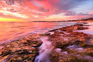 Autumn Sunset at Marmion Beach Landscape Photography Print