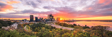 Autumn Sunrise Over Perth and Kings Park