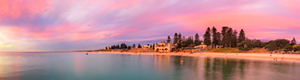 Autumn Sunset at Cottesloe Beach Landscape Photography Print