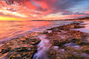 Autumn Sunset at Marmion Beach Landscape Photography Print