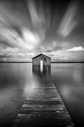 Boatshed Landscape Photography Print