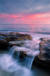 Burns Beach at Sunset Landscape Photography Print