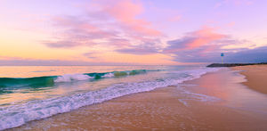 City Beach Sunrise Landscape Photography Print