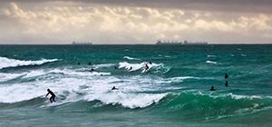 Cottesloe Beach Surfers Landscape Photography Print