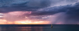 Cottesloe Beach Storm at Sunset Landscape Photography Print