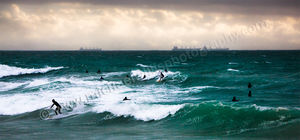 Cottesloe Beach Surfers Landscape Photography Print