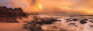 Cottesloe Storm at Sunset Landscape Photography Print