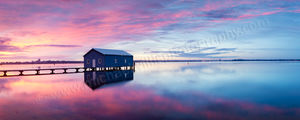 Crawley Boatshed Sunrise Landscape Photography Print