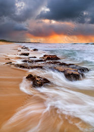 Falcon Beach Sunset, Mandurah Landscape Photography Print