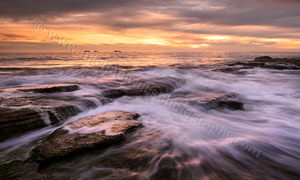 Golden Sunset at Burns Beach Landscape Photography Print
