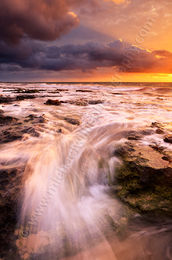 Incoming Wave at North Cottesloe Beach Landscape Photography Print