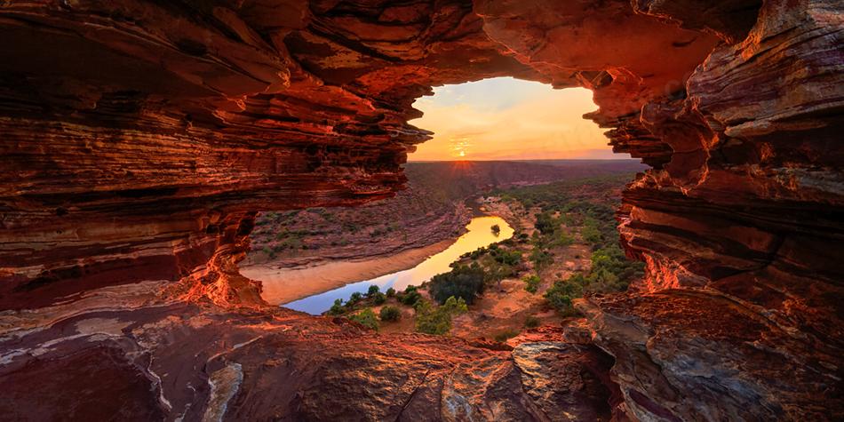 Kalbarri National Park Sunrise Landscape Photography Print