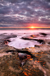 Last Light at North Cottesloe Beach Landscape Photography Print