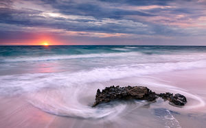 Last Light at Watermans Beach Landscape Photography Print